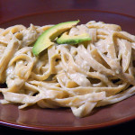 Fettuccine with Avocado Alfredo
