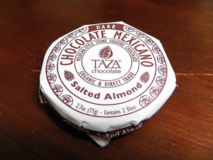 Forkable Review of Taza Mexicano Dark Chocolate with Salted Almond