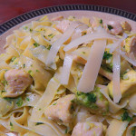Lemon Fettuccine with Chicken and Avocado