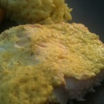 Salmon with Mustard-Dill Sauce & Saffron Rice