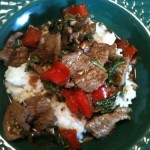 Spicy Mint Beef with Coconut Rice