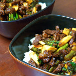 Beef and Broccolini with Mango