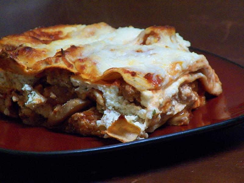 Three Mushroom Lasagna – Forkable