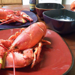 Steamed Maine Lobster with Lemon Butter