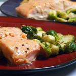 Maple Horseradish Mustard-glazed Salmon