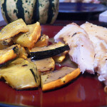 Roasted Carnival Squash with Maple Dijon Vinaigrette